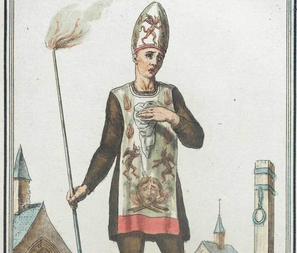 スペインの異端審問で異端者が強制的に着せられたこっぱずかしい服