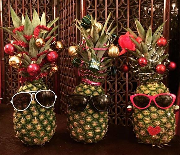 クリスマスツリーが欲しい?パイナップルがあるじゃない。最近海外で流行しているパイナップルツリー