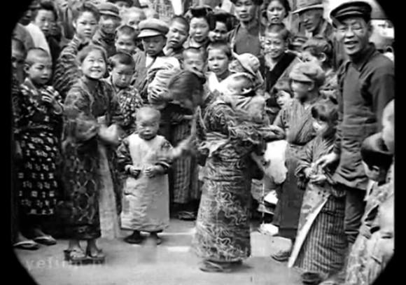 約100年前の日本・東京の人々の暮らしを記録した歴史映像(大正時代)
