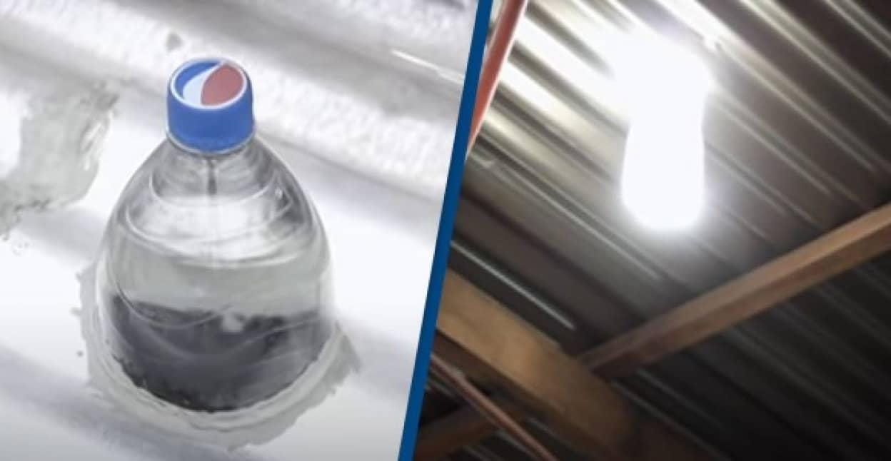 ペットボトルが電球代わりに、電気のない場所に光を届ける運動