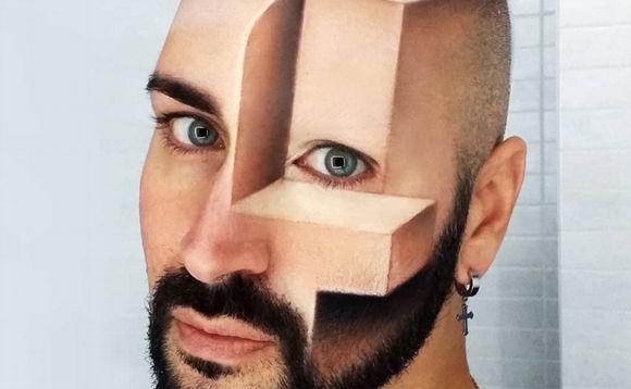 コラじゃないよメイクだよ。顔面立体錯視をメイクのみで実現したアーティスト