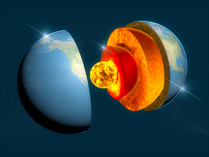 地球の内側には正体不明の隠された層があることが判明