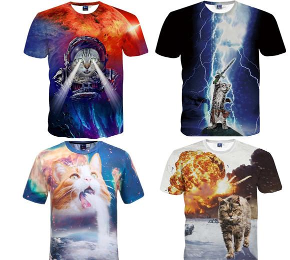 Amazonで売られている猫の3DプリントTシャツとパーカーが壮大すぎて地球の危機