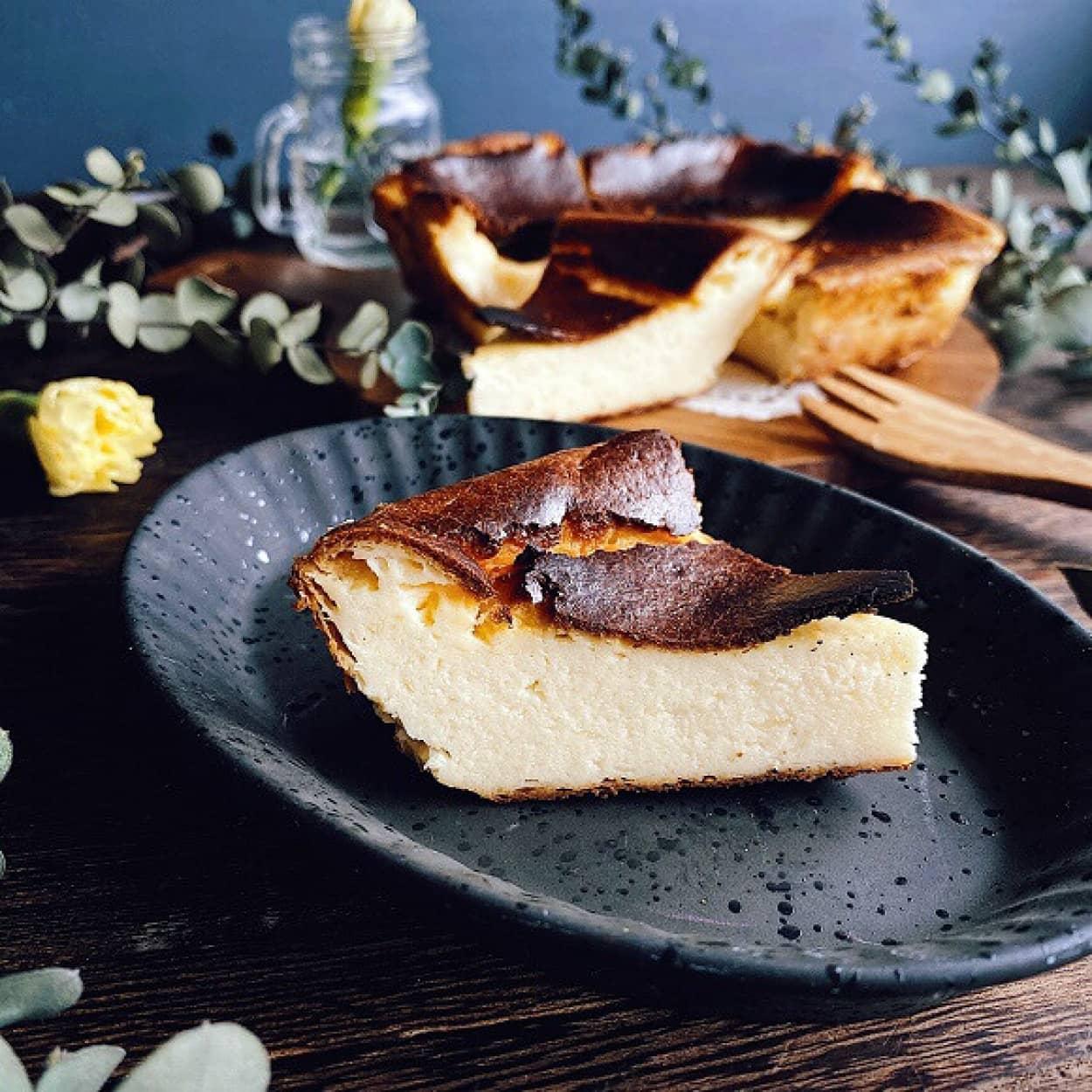 アイスクリームで簡単に作れるバスクチーズケーキのレシピ