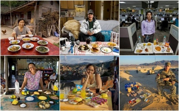 食文化・食生活の違いがわかる世界各地の人々の職業別、1日の食事