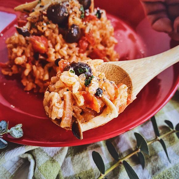 おいしく腸活。もち麦入りトマトチーズリゾットの作り方