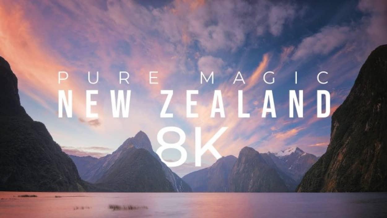 ニュージーランドの大自然を堪能できる高画質映像