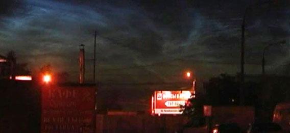 ロシア、チェリャビンスク上空で怪現象。オーロラのような光が空に広がる