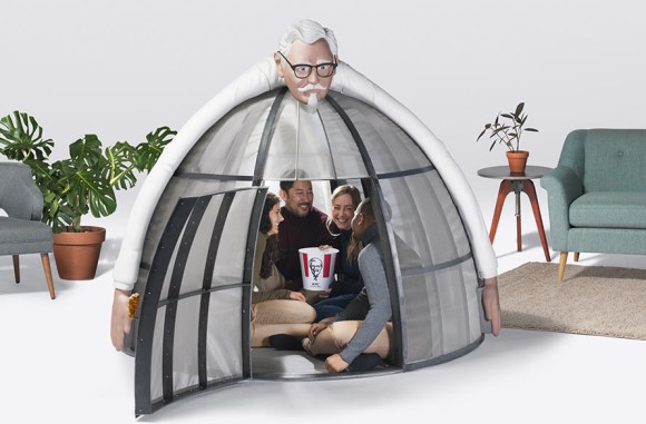 ネット通販から人々を守れ!カーネルおじさんが丸ごと包み込んでくれる「電波遮断テント」が販売されていた!