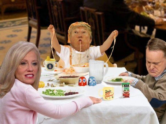 トランプ大統領のコラは、やんちゃで子どもっぽいのものが多い件に関して