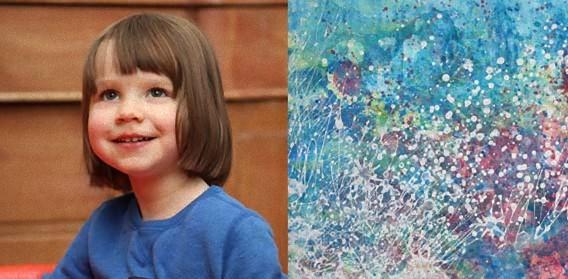 自閉症の3歳少女の描く絵に世界が絶賛