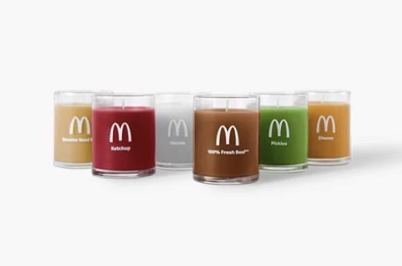 キャンドルを全部灯すとハンバーガー味に!味なことやるマクドナルドのキャンドル登場