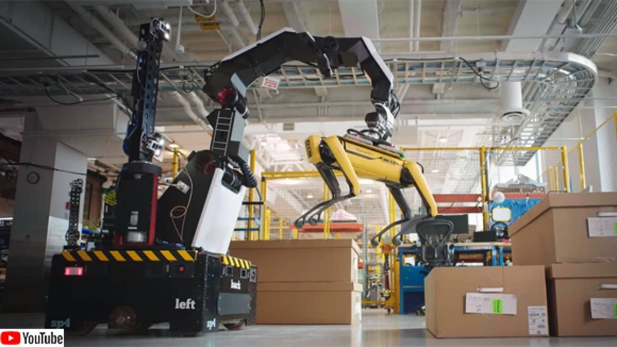 ボストンダイナミクスの新キャラ、吸盤付きロボット、ストレッチ(Stretch)