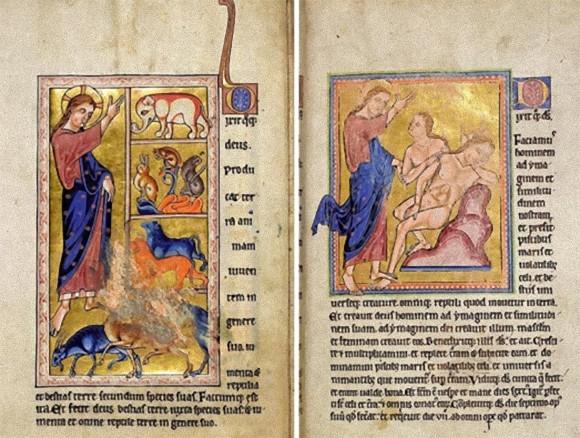 中世に描かれた「アバディーン動物寓意集」の高解像度スキャン画像がネット閲覧・ダウンロード可能に!