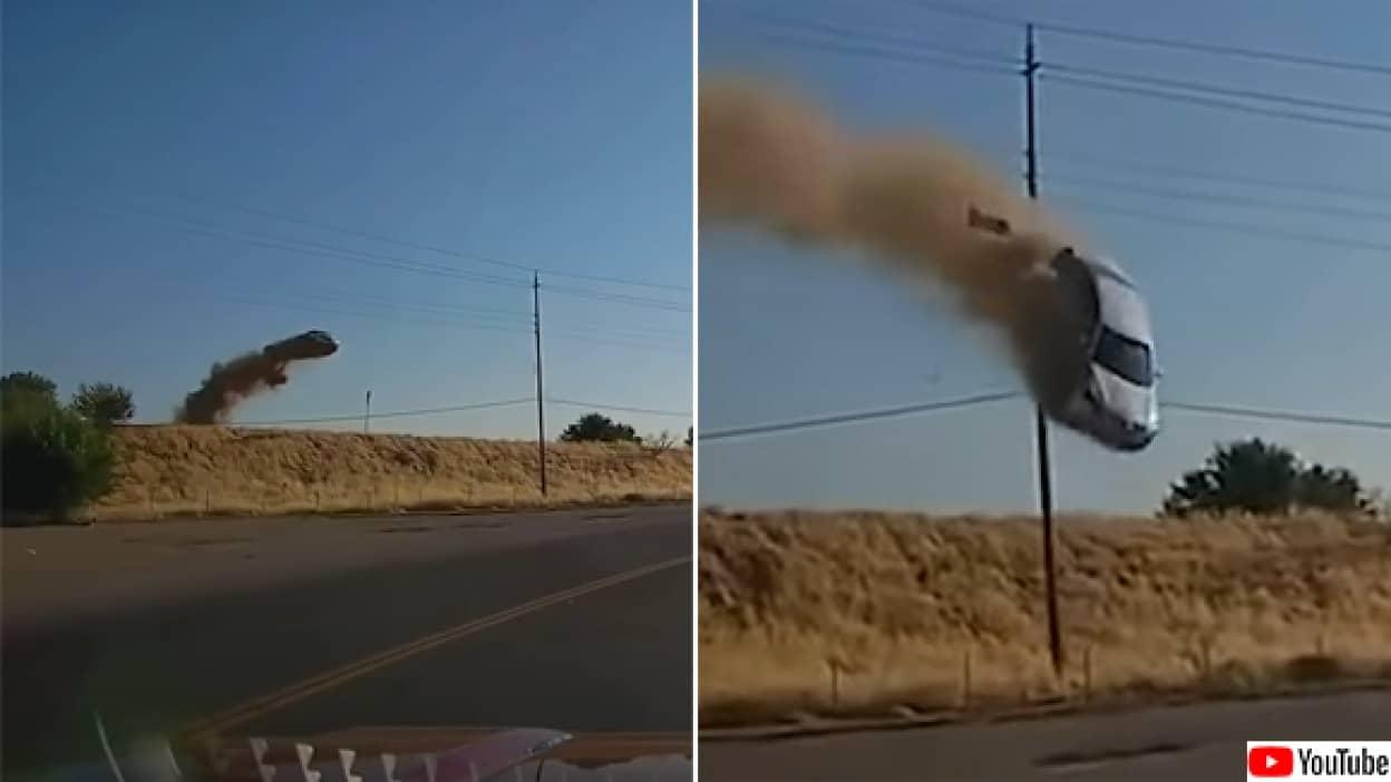 空から車が降って来るという恐怖体験