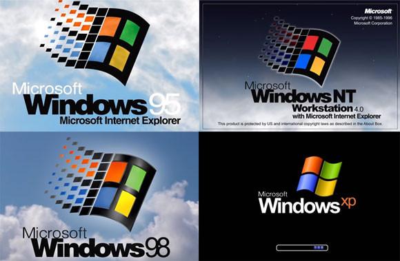 マイクロソフトのWindows 95からWindows10までの起動音を35秒で聴く動画