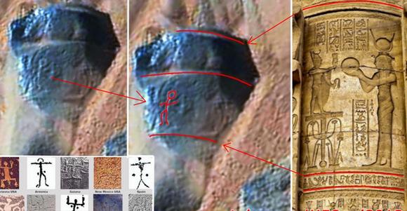 完全に一致なのか?火星の岩に古代ペトログリフの彫刻ようなものが(NASA撮影)