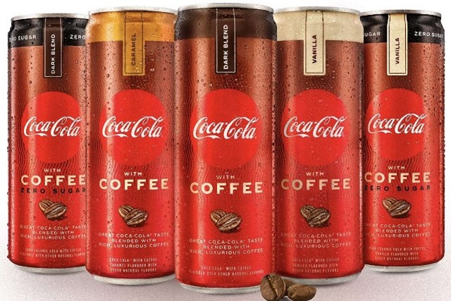 コカ・コーラとコーヒーが合体した商品が販売中