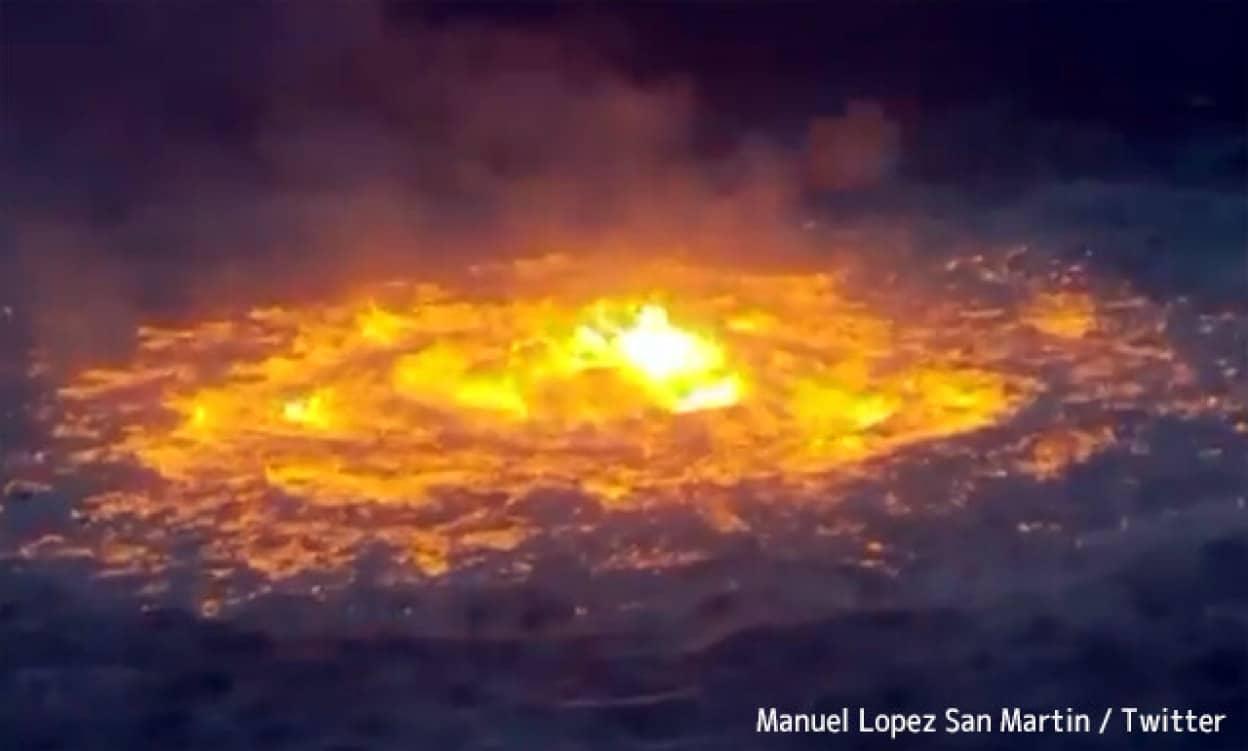 メキシコ湾で海中パイプライン火災が発生