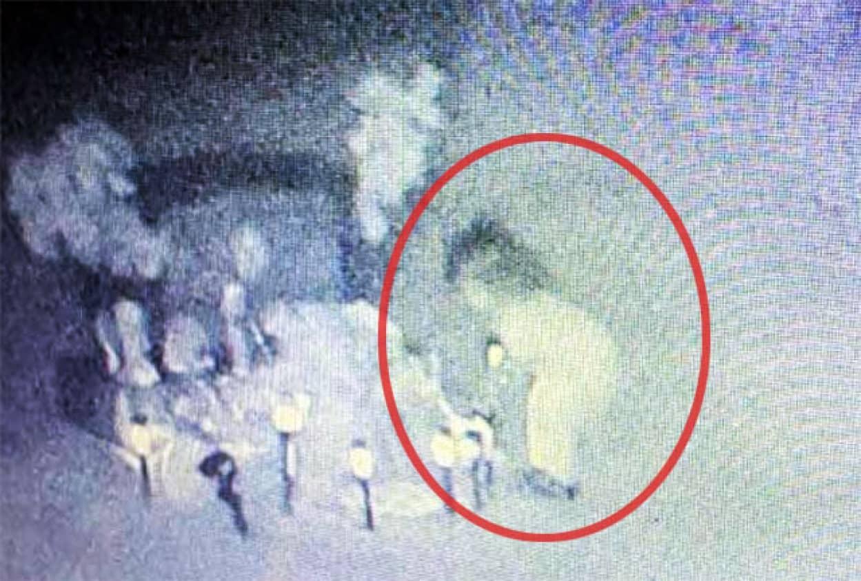 墓地の監視カメラがとらえた少女の幽霊