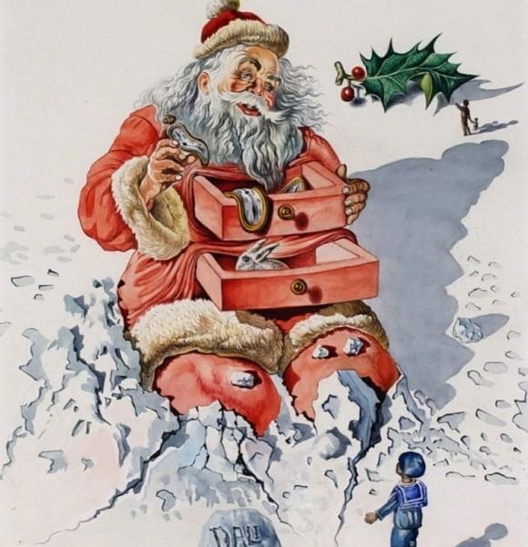 サルバドール・ダリのクリスマスカード