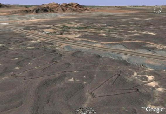 アラビア半島:濃い線は石の壁 ...