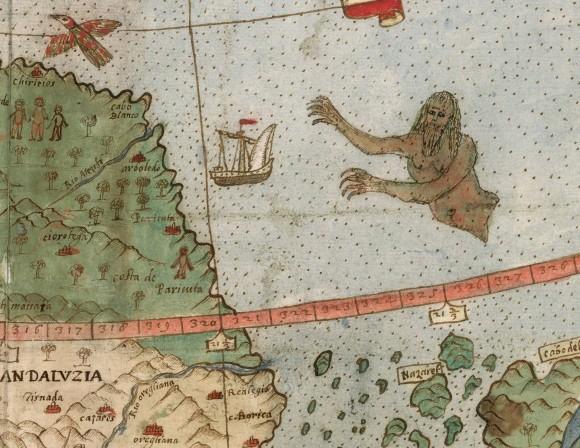 日本の地図も!16世紀に描かれたファンタジー盛りだくさんの世界地図がデジタル化公開(イタリア)