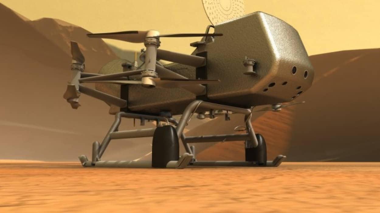 土星の衛星「タイタン」の地表調査を行うドラゴンフライが2030年半ばに到着予定
