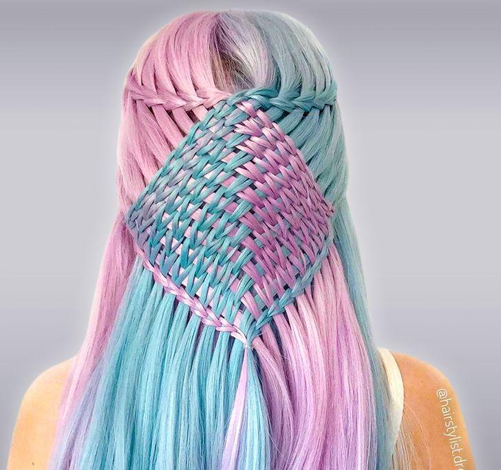 編み込みヘアは芸術だ!精巧な編み込みで頭髪に芸術を生み出す17歳少女