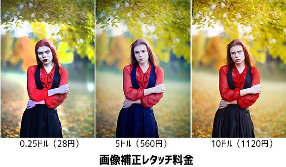 自分の写真の補正(レタッチ)をネット上で依頼したら価格の違いでこんなにも違うことが判明