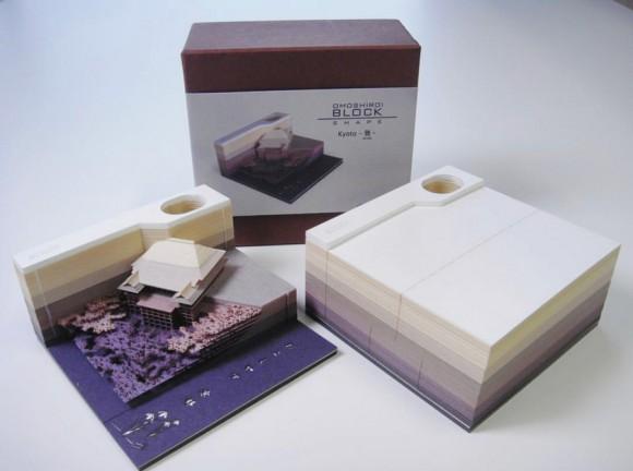 使っていくと精巧な立体模型が現れる!日本発のメモ帳「オモシロイ・ブロック」に世界が驚愕、瞬殺完売で再販待ち