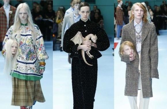 生首やドラゴン、カメレオンがランウェイを彩る?GUCCI(グッチ)の最新ファッションショーのテーマは「ポストヒューマン」