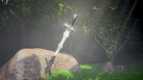 聖剣エクスカリバーか?約700年前の剣が川底の岩に刺さった状態で発見される(ボスニア)