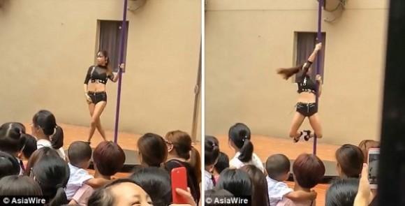 子供はきょとーん?で親は激怒。幼稚園の始業式で本格的なポールダンスが上演された件(中国)