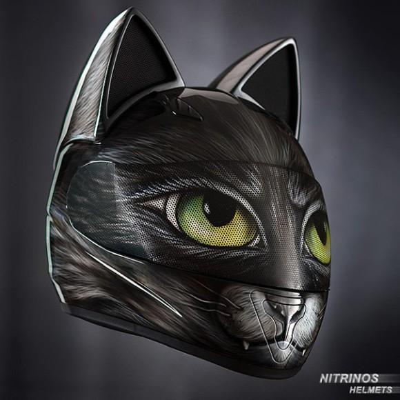 ヘルメットに猫耳があってもいいじゃない。ロシアから、猫耳ヘルメットが通販開始