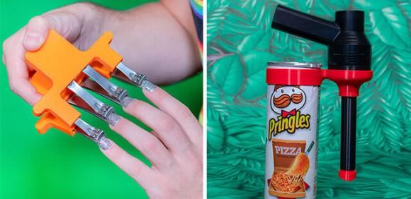 ポテトチップス銃にクロックス手袋。なくても困らないけど、あったら逆に困るかもしれない珍発明品の数々