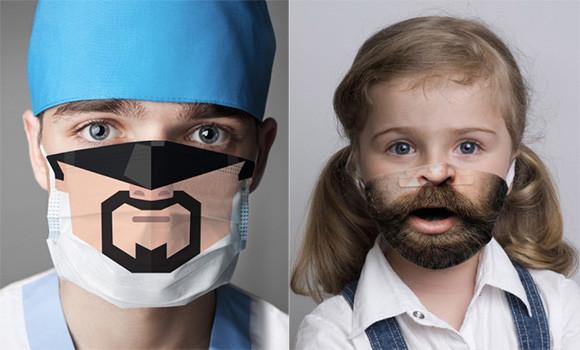 病院が怖いところにならないように。医療従事者と患者を笑顔にする面白マスク