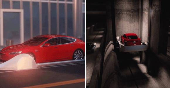 イーロンマスクのボーリングカンパニー社が、驚くべき移動システムを構想。渋滞中の道路から地下トンネルで高速道路へ