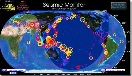 リアルタイム 世界 地震 速報