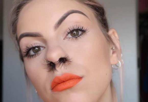 ノーズのヘアをマシマシで。つけまつげを鼻にインする「つけ鼻毛」が海外から提唱されてますけどっと