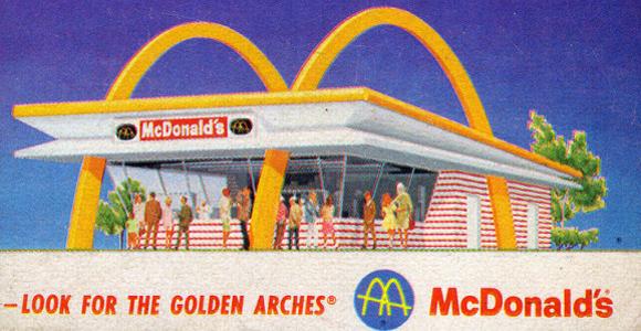 図解:マクドナルドとバーガーキングの年代別ロゴの変化