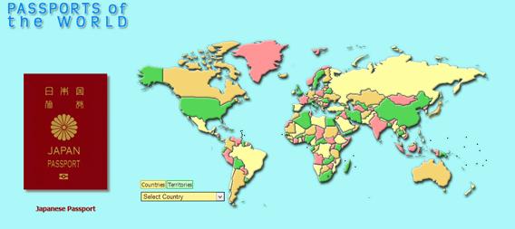 世界各国のパスポートを見ることができるインタラクティブサイト「Passports of the world」