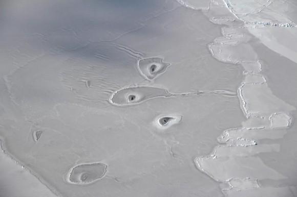 NASAも首をかしげる。北極の海氷にぽっかりと開いた謎の穴(北極)