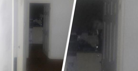 誰もいない台所から顔を出した幽霊