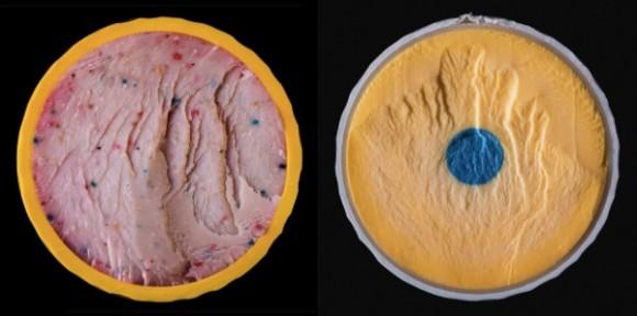 何これおいしそう、アイスクリーム?いいえ違います。ゴルフボールの断面です。