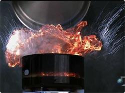 火に油を注ぐ実験