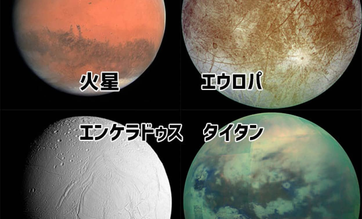 太陽系内で生命体がいそうな4つの惑星・衛星
