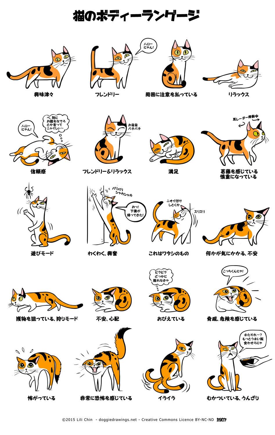 なるほどこれはわかりやすい。犬と猫の仕草から学ぶ、図解 ...