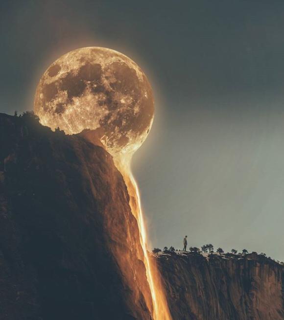 月が溶岩に溶けて流れているだと?ネットミームとなったあの画像の真相を検証