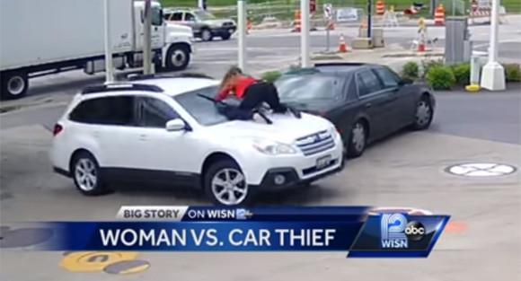 車泥棒キター!だが女性ドライバーはわが身を顧みず徹底抗戦に挑んだ(アメリカ)